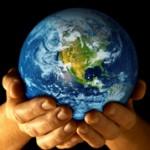 earth held gently
