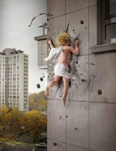 Cupid crashes - via Daily Art Cocktail
