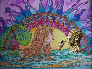 Psychedelic-mermaid meets med-head