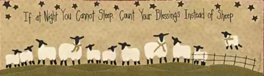 Count blessings not Sheep