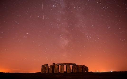 Perseids meteor shower, Stonehenge